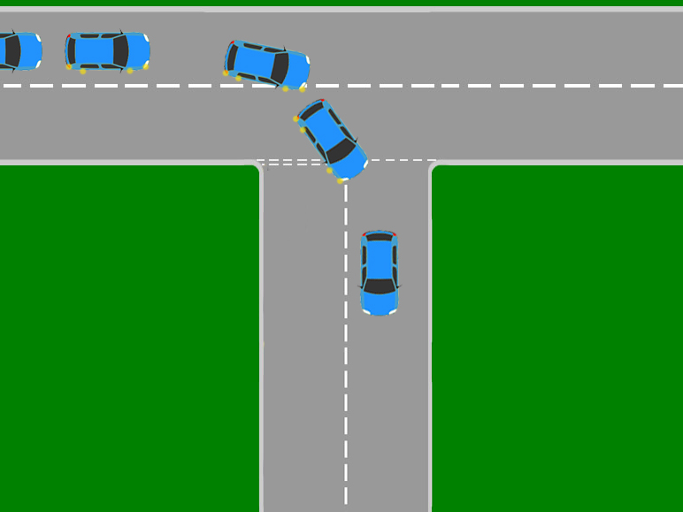Learning to drive cut corner