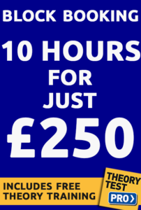 Driving lesson prices 250