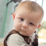 suspicious baby