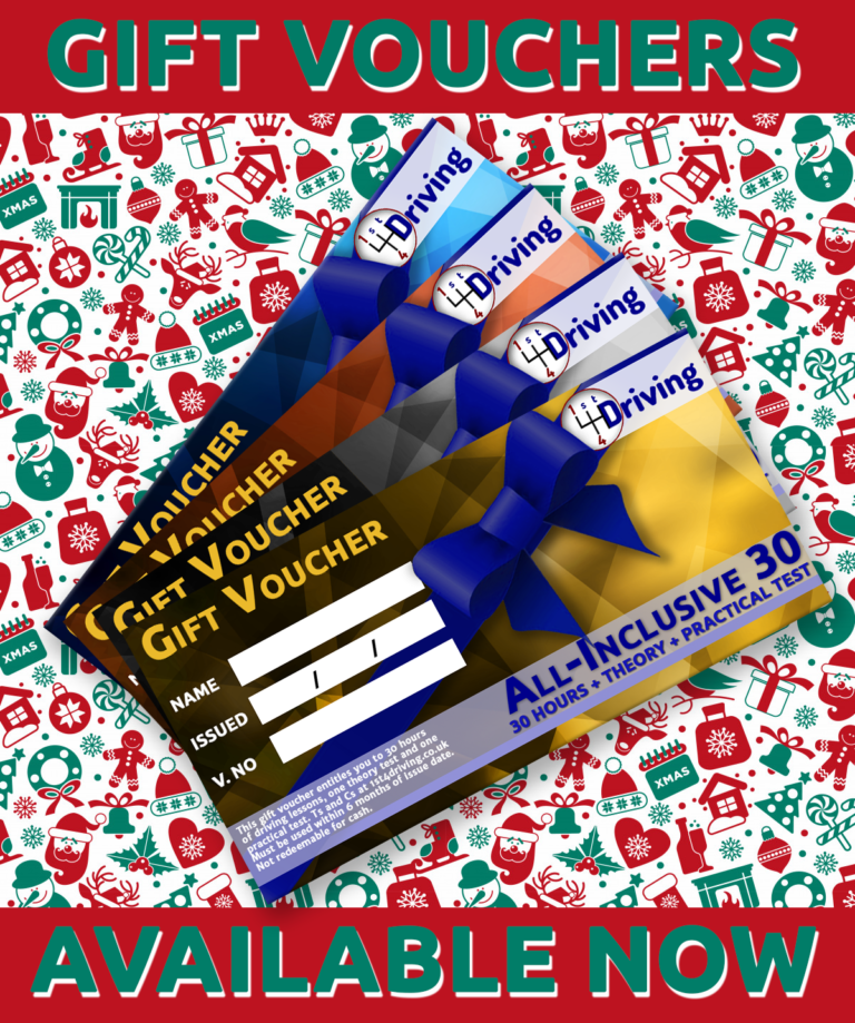 driving lessons gift vouchers christmas