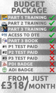 driving instructor training package budget
